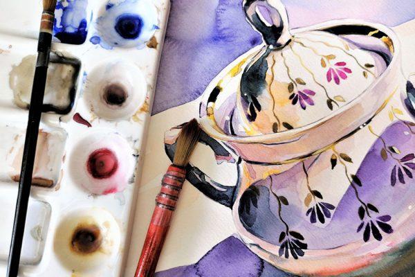 peindre sur porcelaine