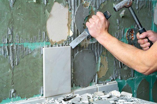 enlever du carrelage mural