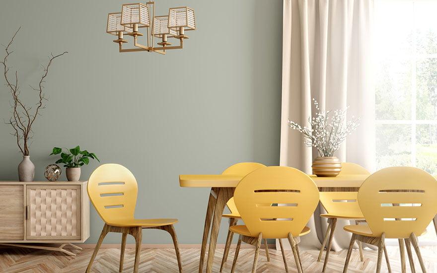 couleur jaune pastel en décoration
