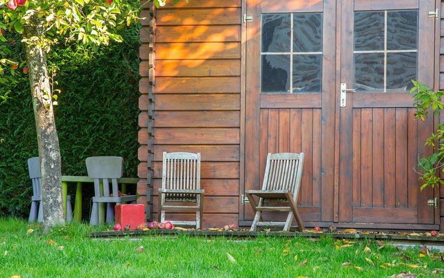 abri de jardin à toit plat et monopente