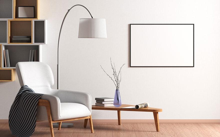 décorer les murs du salon