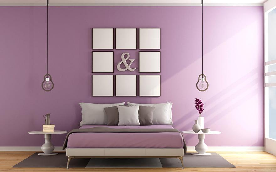 chambre couleur lavande