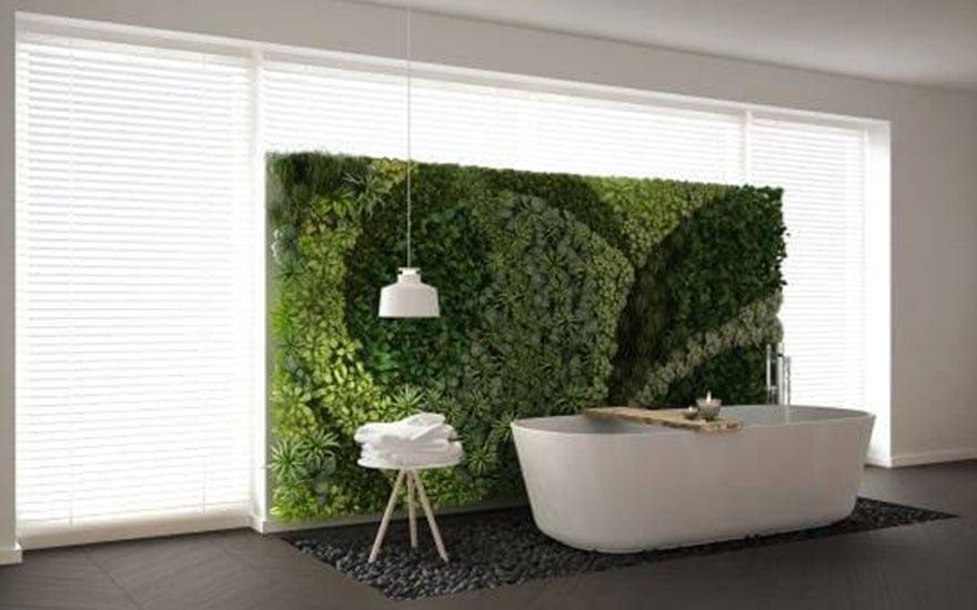 décorer un mur végétal