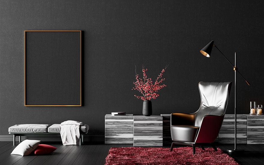 le noir en décoration