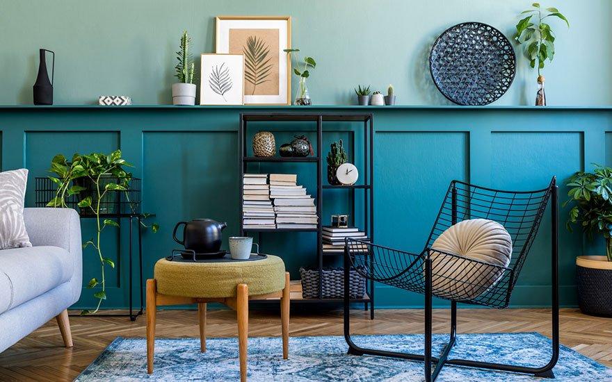 mobilier bleu marine