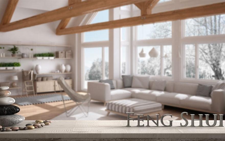placer le canapé dans un salon feng shui