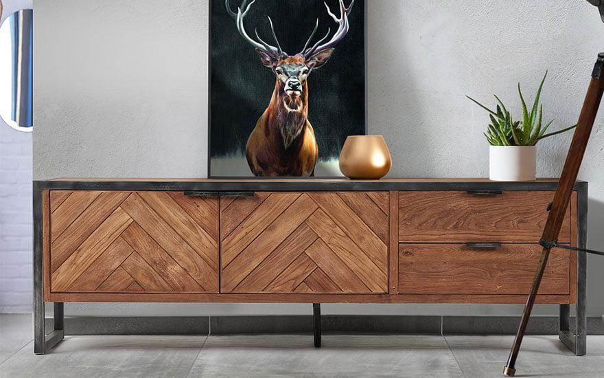 mettre en valeur meuble en teck massif